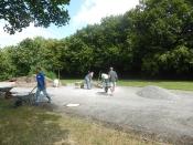 Bau des Bouleplatzes_46