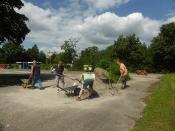 Bau des Bouleplatzes_48