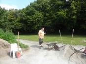 Bau des Bouleplatzes_53